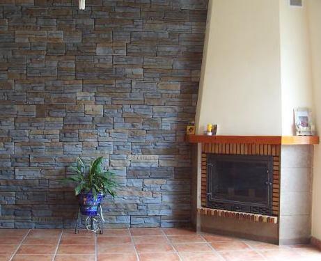 Revestimientos de piedra en paredes naturales artificiales for Revestimiento de paredes exteriores baratos